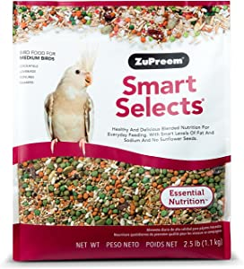 ZuPreem Smart Selects Daily Bird Food for Cockatiels & Lovebirds
