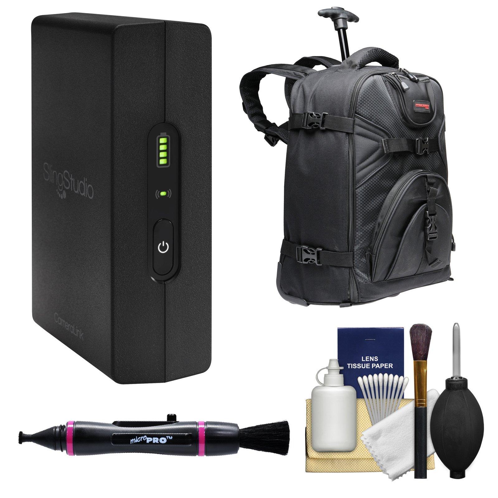 SlingStudio Wireless CameraLink with Backpack + Lenspen + Cleaning Kit by SlingStudio