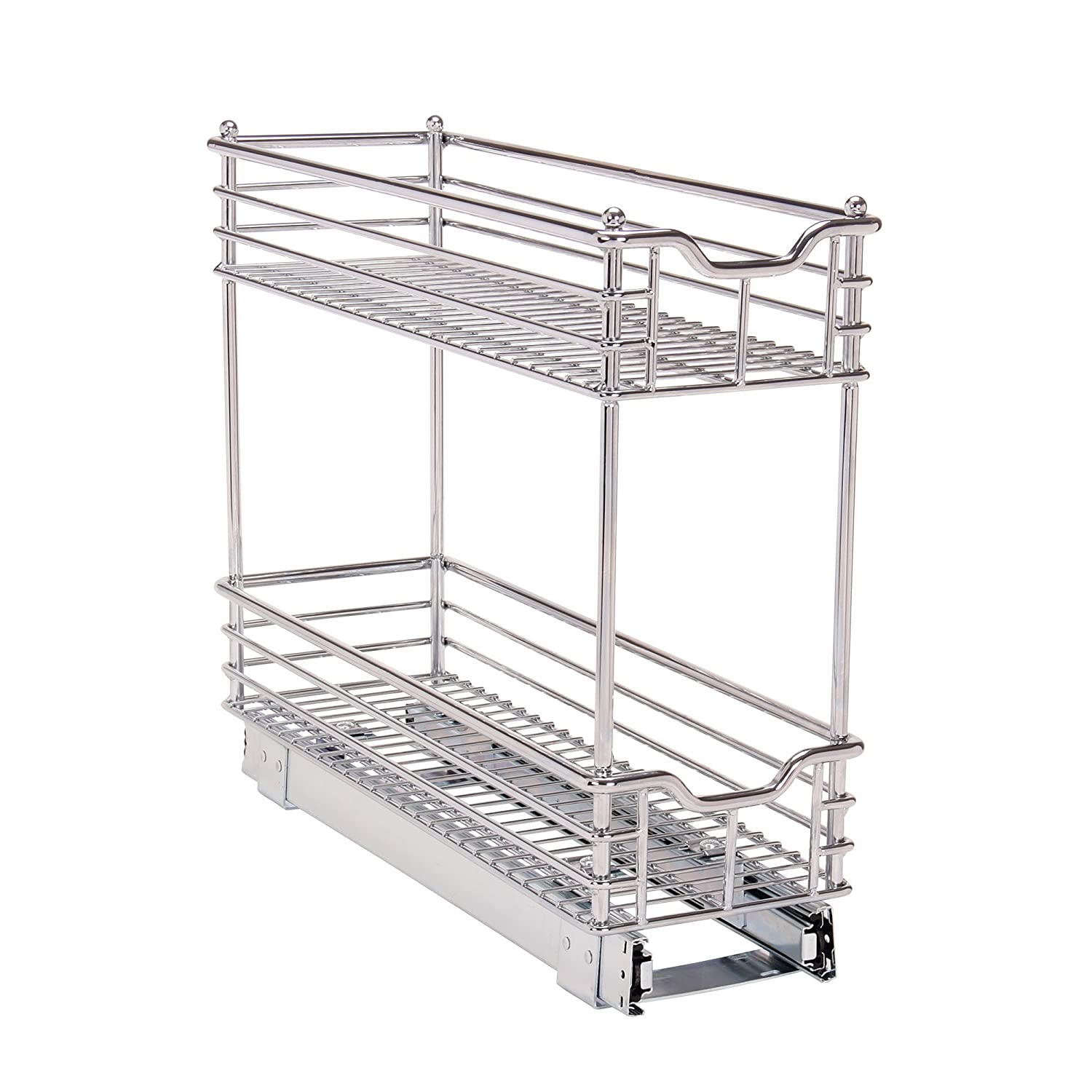 Household Essentials Glides Narrow Sliding Organizer, 5-Inch, Chrome C20521-1