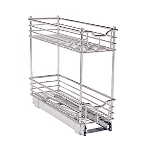 "Household Essentials Glidez Narrow Sliding Organizer, 7"", Chrome"