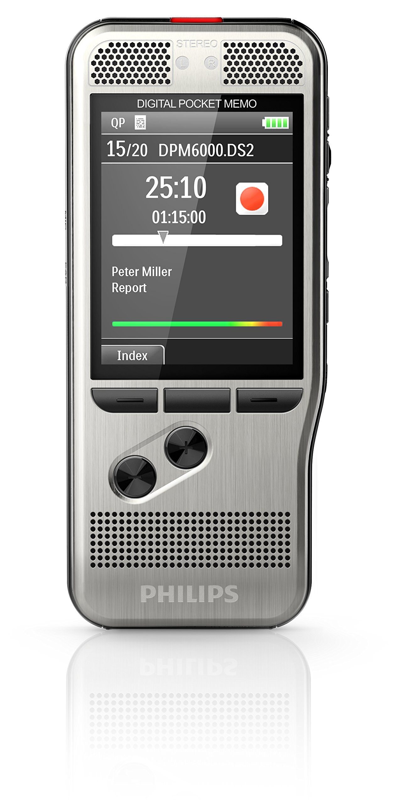 Philips DPM6000 Digital Pocket Memo Voice Recorder with Push Button Operation by PHILIPS