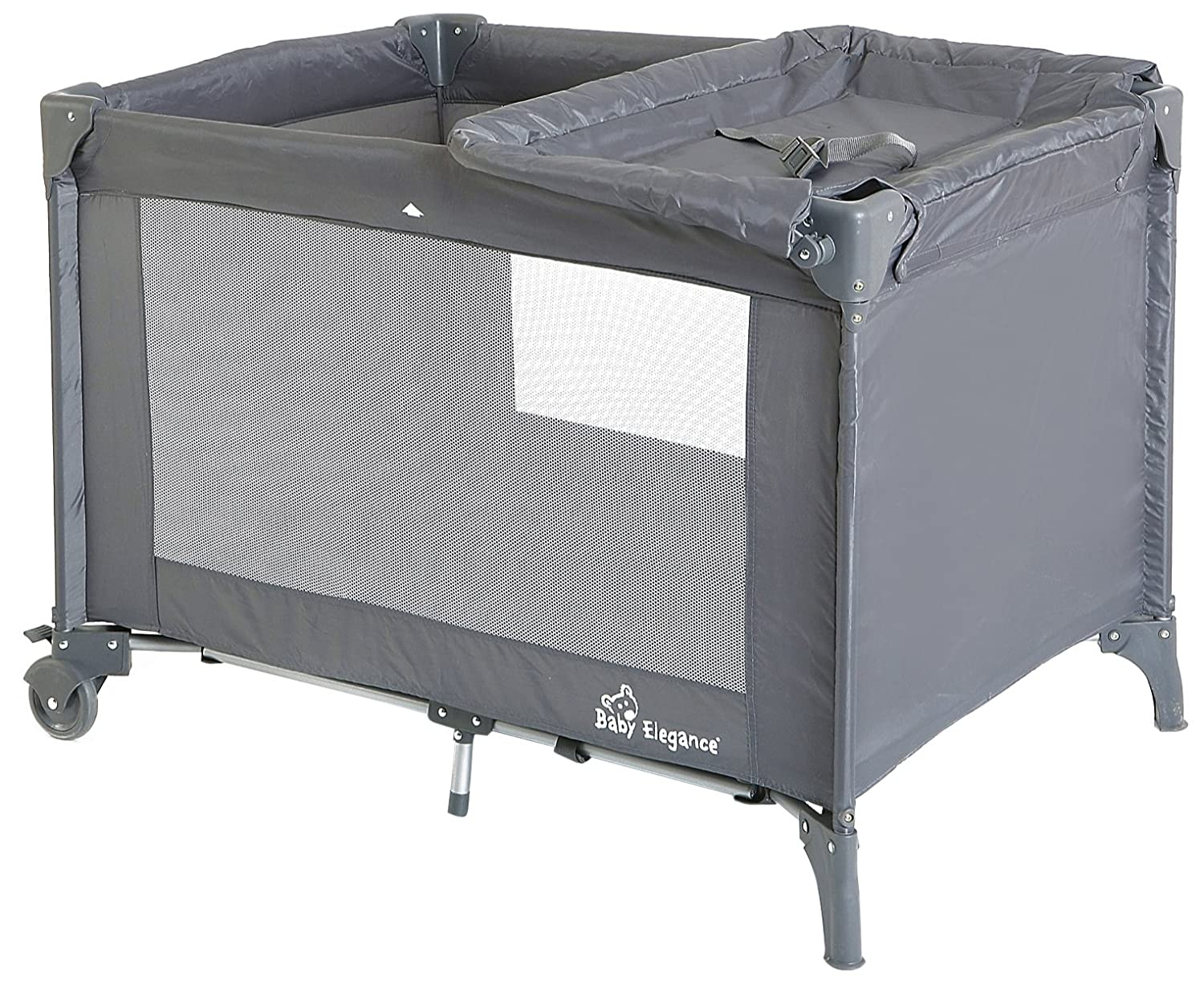 Baby Elegance Travel Cot (Large, Grey) 1263