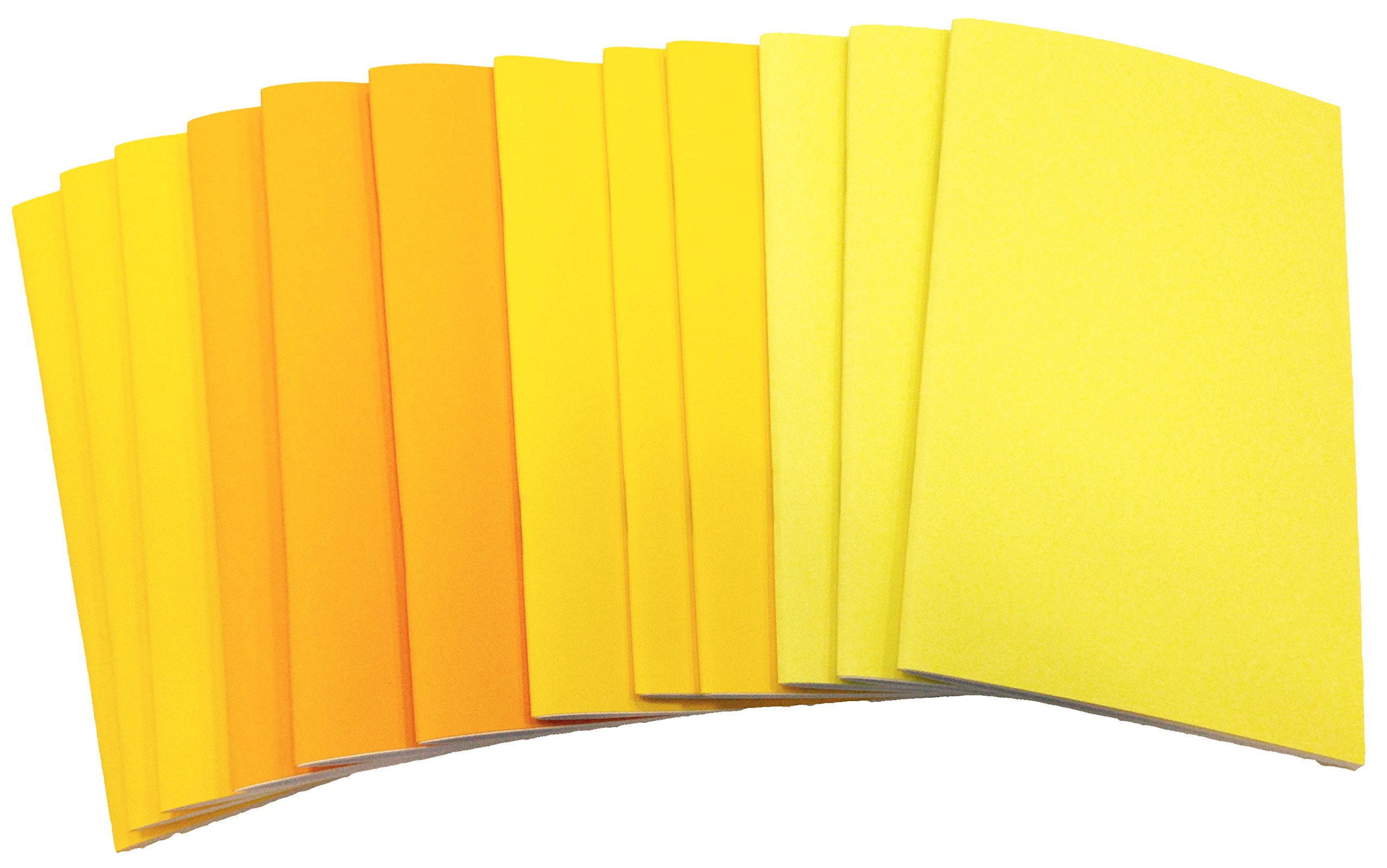 DEBRADALE DESIGNS - Brite & Clever Kid's 40 Blank Page Booklets - 5-1/2'' x 8-1/2'' - 12 Pack - Yellow