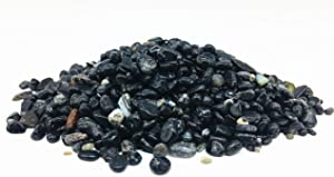 Xinxingshuo 1 lb Black Agate Small Tumbled Chips Crushed Stone Healing Reiki Crystal Jewelry Making Home Decoration (Black Agate)