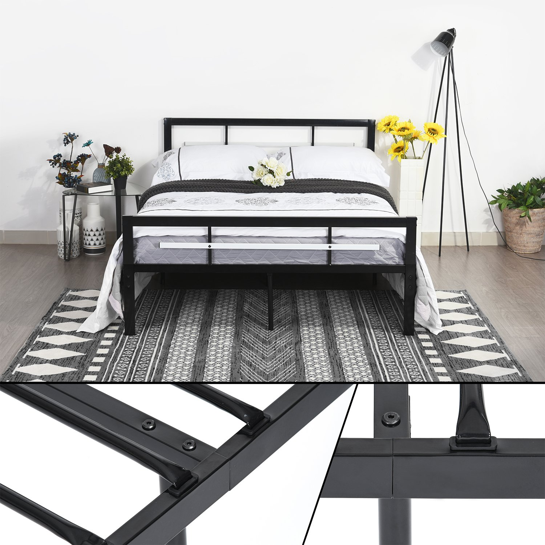 Gästebett Doppelbett Metallbett Metall Rahmen Bett Jugendbett ...
