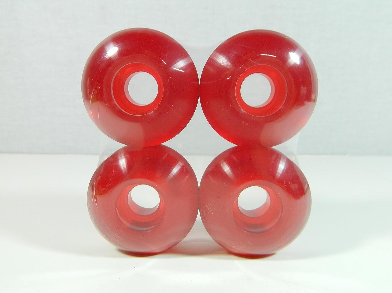 52mm x 31mm プロクリアカラースケートボードホイール  Clear Red B00IK52HUS