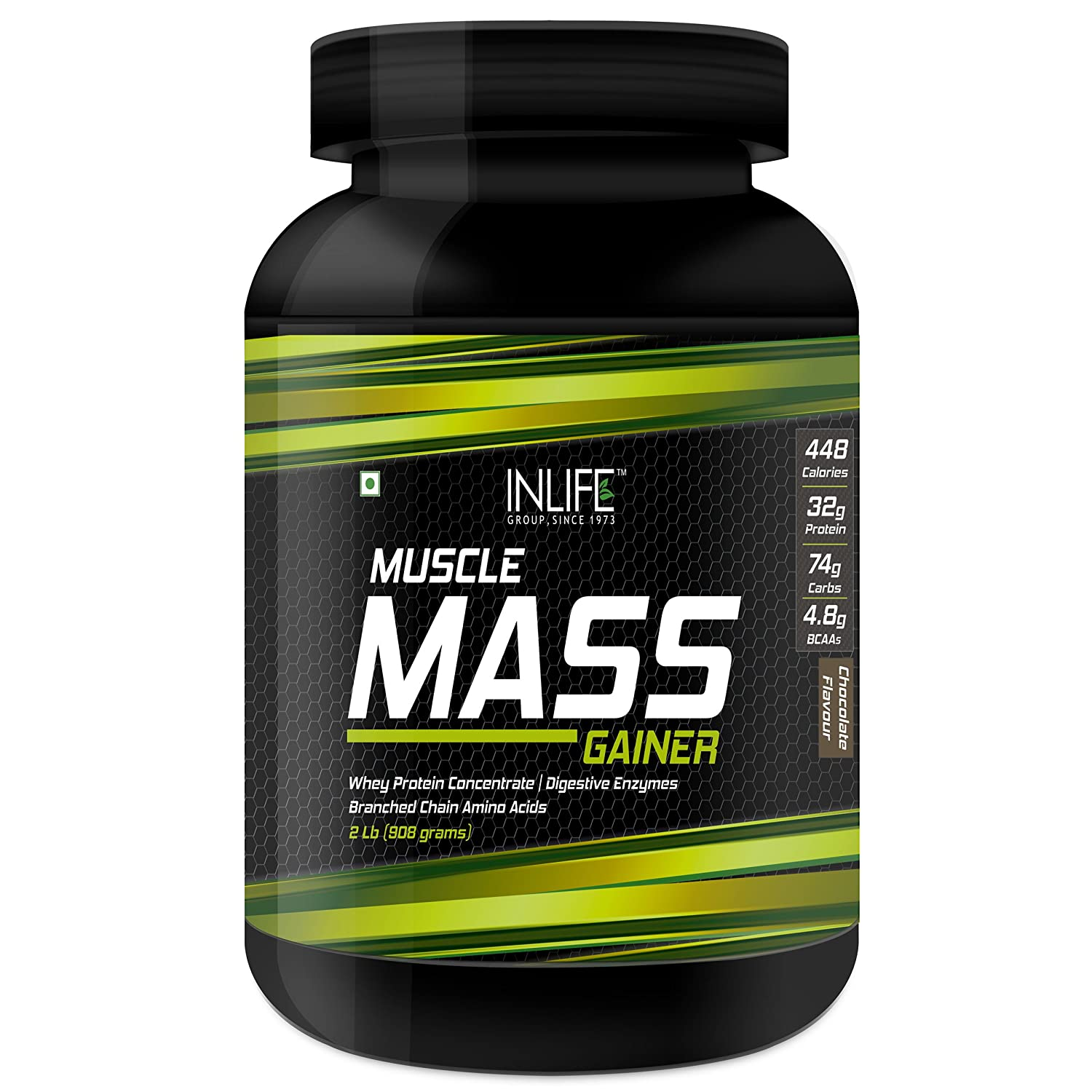 fc83a28bdf6 Amazon.com  INLIFE Muscle Mass Gainer with Whey Protein Powder Bodybuilding  Supplement (908 grams 2 lb)  Health   Personal Care