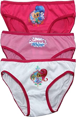 7ac4816d80 SHIMMER AND SHINE Girls 3 Pack Underwear Set  Amazon.co.uk  Clothing