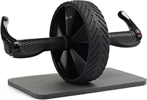 Rico Future Fitness Ab Roller Wheel - Pre-Assembled Professional Grade Home & Gym Workout Abdominal Equipment for Abs Exercise - Core Stomach Abdomen Muscle Training and Strengthening While Rolling
