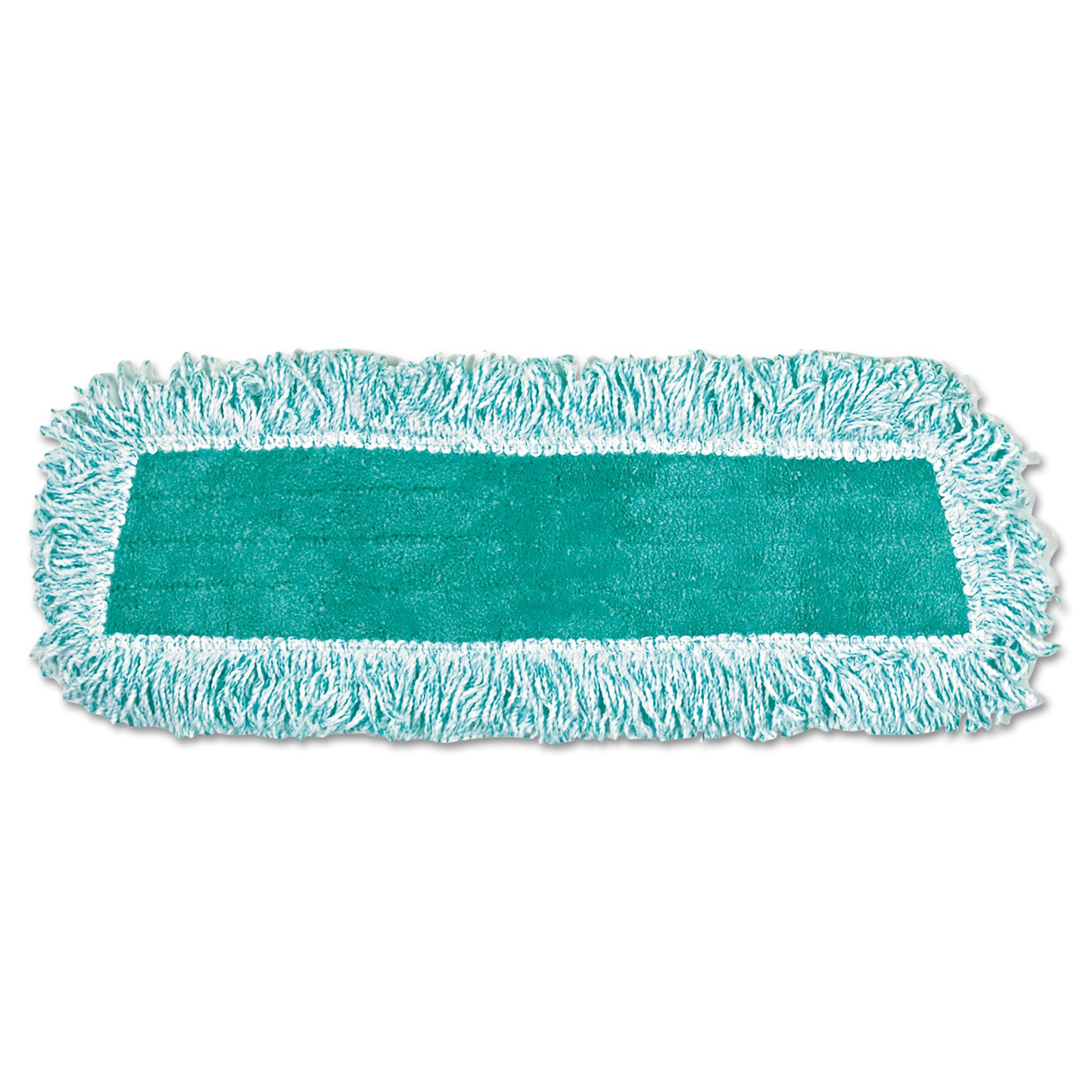 Rubbermaid Commercial RCP Q408 GRE Standard Microfiber Dust Mop with Fringe, Cut-End, 18'' x 5'' (Pack of 12)
