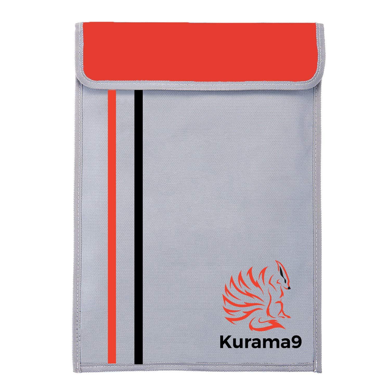 Fireproof Bag - Document Holder - Waterproof Case - Travel Safe Protect Passport Money Storage Pouch - 15'' x 11'' Silicon Coated Double Layer Fiberglass - 100% Premium Quality - Kurama9