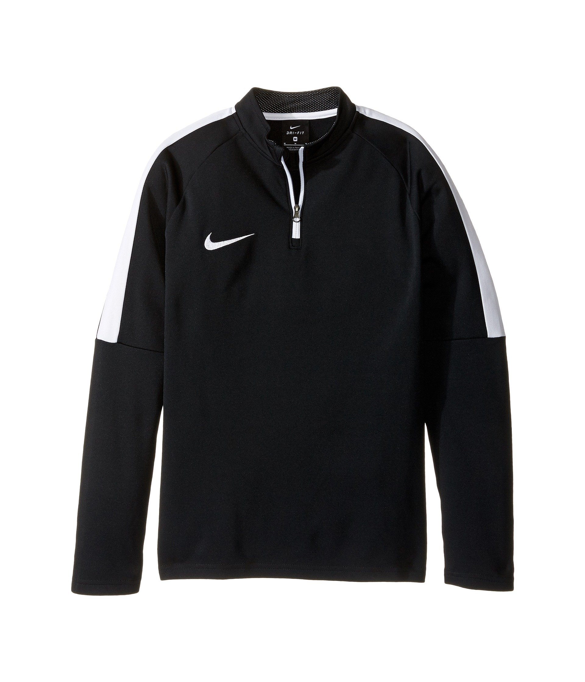 Nike Kids' Dry Academy Drill Soccer Top 1/4 Zip Black Jacket (Large, Black/White)