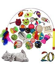 Black Lion 20x Katzenspielzeuge inklusive Katzenangel, 20 Spielzeuge für Katzen