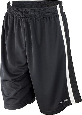 Black//White Spiro Mens Basketball Quick Dry Shorts Medium