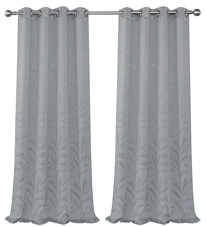 GoodGram® Assorted Colors GoodGram 2 Pack Palladian Lattice Heavy Duty Thermal Blackout Curtain Panels Palladian Golden Linen