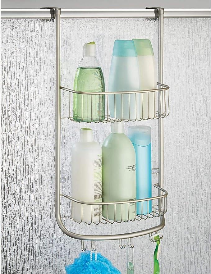 iDesign Organizador de ducha para colgar, pequeña estantería ...