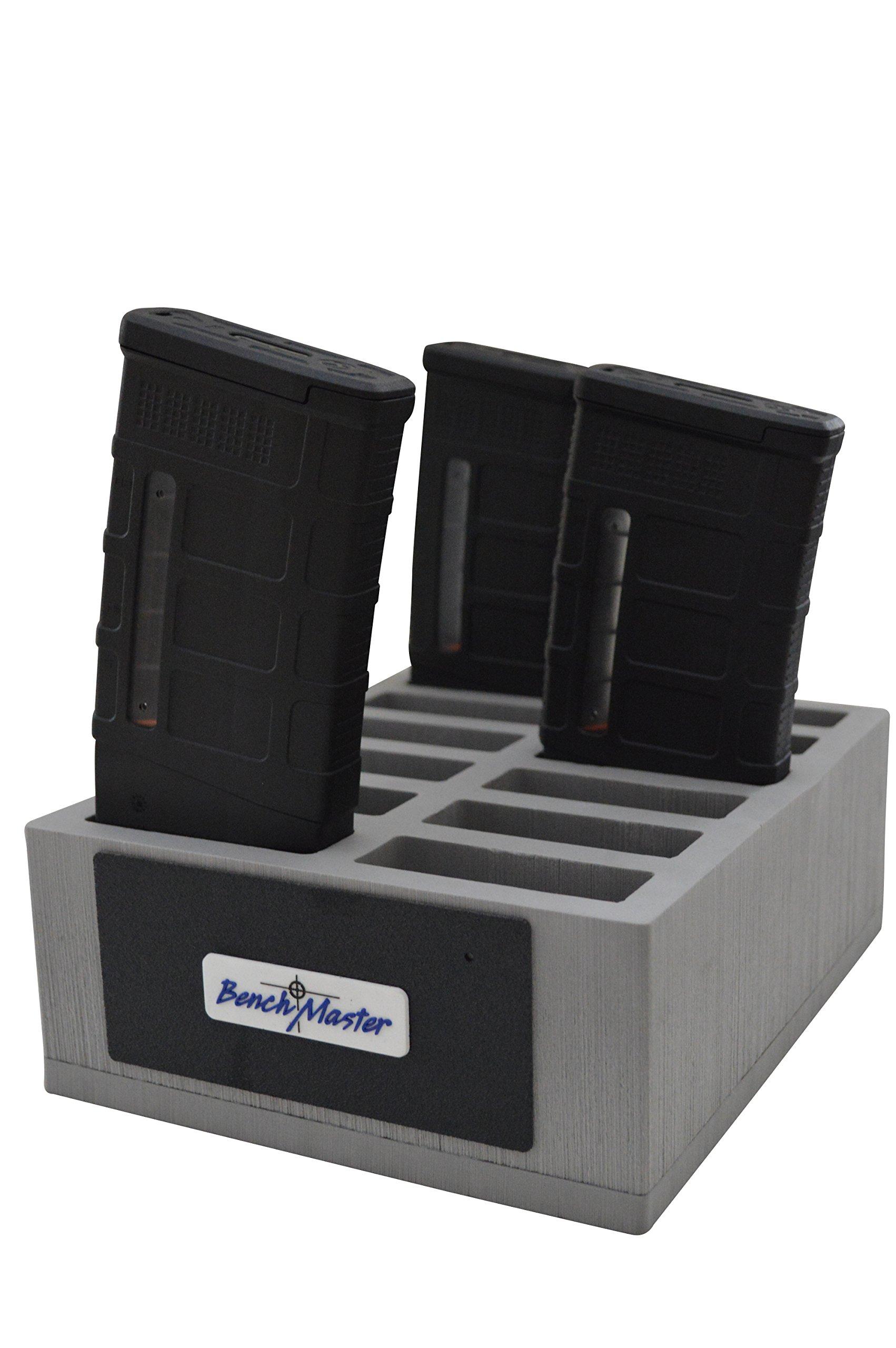 BenchMaster - Weapon Rack - AR-10 Mag Rack (12) - Gun Safe - Gun Storage Accessories - Gun Rack - AR-10