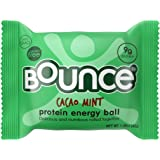Bounce Cacao Mint Protein Energy Ball - Whey Protein, Gluten Free, Non-GMO, Vegetarian, On The Go  Snack - 1.48 Ounce, 12 count