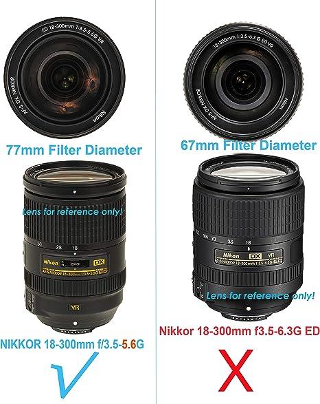 Lens Hood HB-39 para Nikon AF-S DX Nikkor 18-300 mm f//3.5-6.3G Ed VR Lente Nuevo