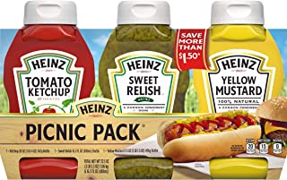 product image for Heinz Ketchup, Sweet Relish & Yellow Mustard Variety Pack (3 Bottles)