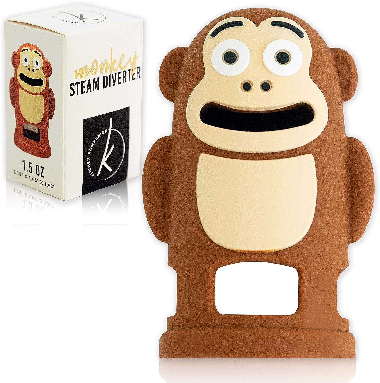 Cute Monkey steam diverter Accessories - Compatible with Instant Pot 3/5 & 6 Qt Steam Diverter - Release Valve Tool - Best Kitchen accessory