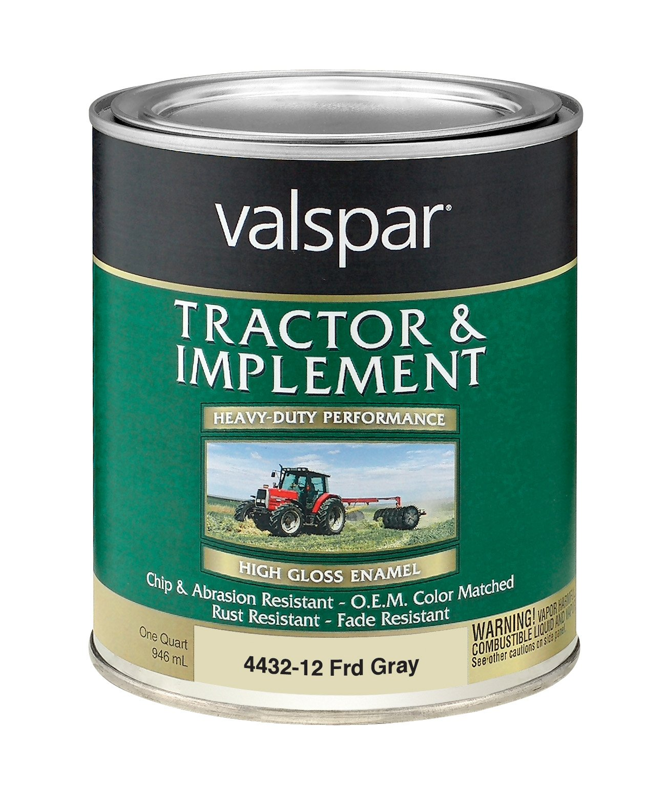 Valspar 4432-13 Ford Gray Tractor and Implement Paint - 1 Quart