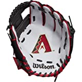 Wilson A200 Youth MLB 10' Tee Ball Glove in Team Logo Designs, All Positions and Perfect for Beginners