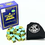 12 Pieces Green KING TRIANGLE Snooker & Pool Chalk - Worlds Most Popular Chalk!