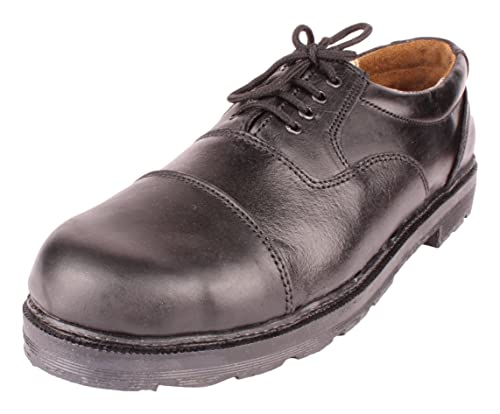 fab5784512e METRO SHOES Men s Black Leather Oxford Shoes - 11 UK  Buy Online at ...