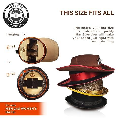 Hat Mate - Ensanchador de sombreros prémium con cepillo para sombreros  adicionales Madera maciza 180a82d9525