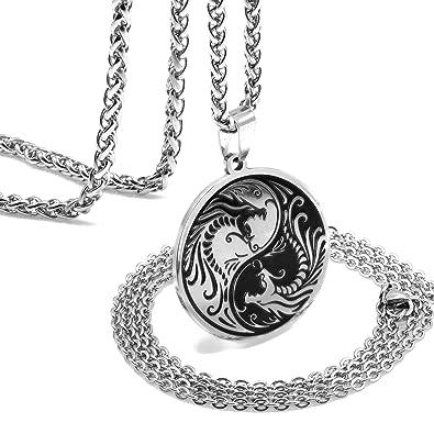 Amazon.com: ZONICTA - Collar con colgante de dragón Yin Yang ...