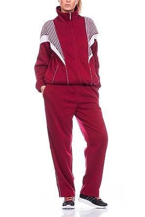Fashion - Chándal - para mujer rojo XXXL: Amazon.es: Ropa y accesorios
