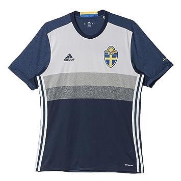 Adidas 2ª Equipación Seleccion de Fútbol de Suecia - Camiseta Oficial: Amazon.es: Zapatos y complementos