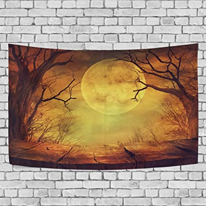 Amazon.com: La Random Halloween Spooky Forest Wall Tapestry Hanging ...