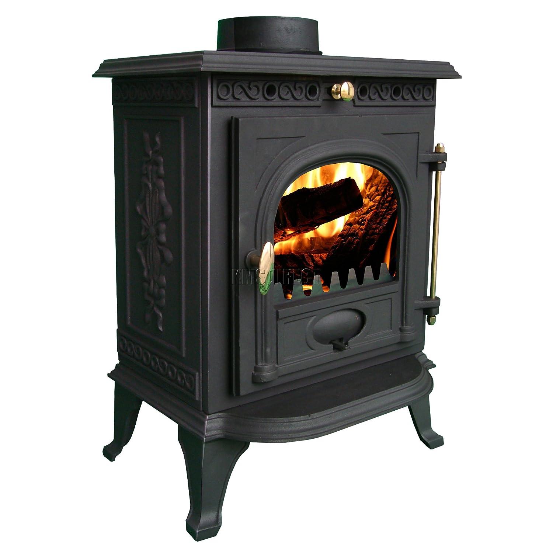 foxhunter woodburner new cast iron log burner multifuel wood