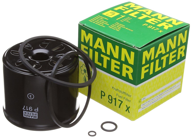 Original MANN-FILTER Kraftstofffilter P 917 x – Kraftstofffilter Satz mit Dichtung / Dichtungssatz – Für PKW