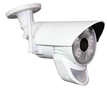 Jeiko cámara HD WiFi de Exterior con Foco LED, Sensor de Movimiento y Sensor crepuscular