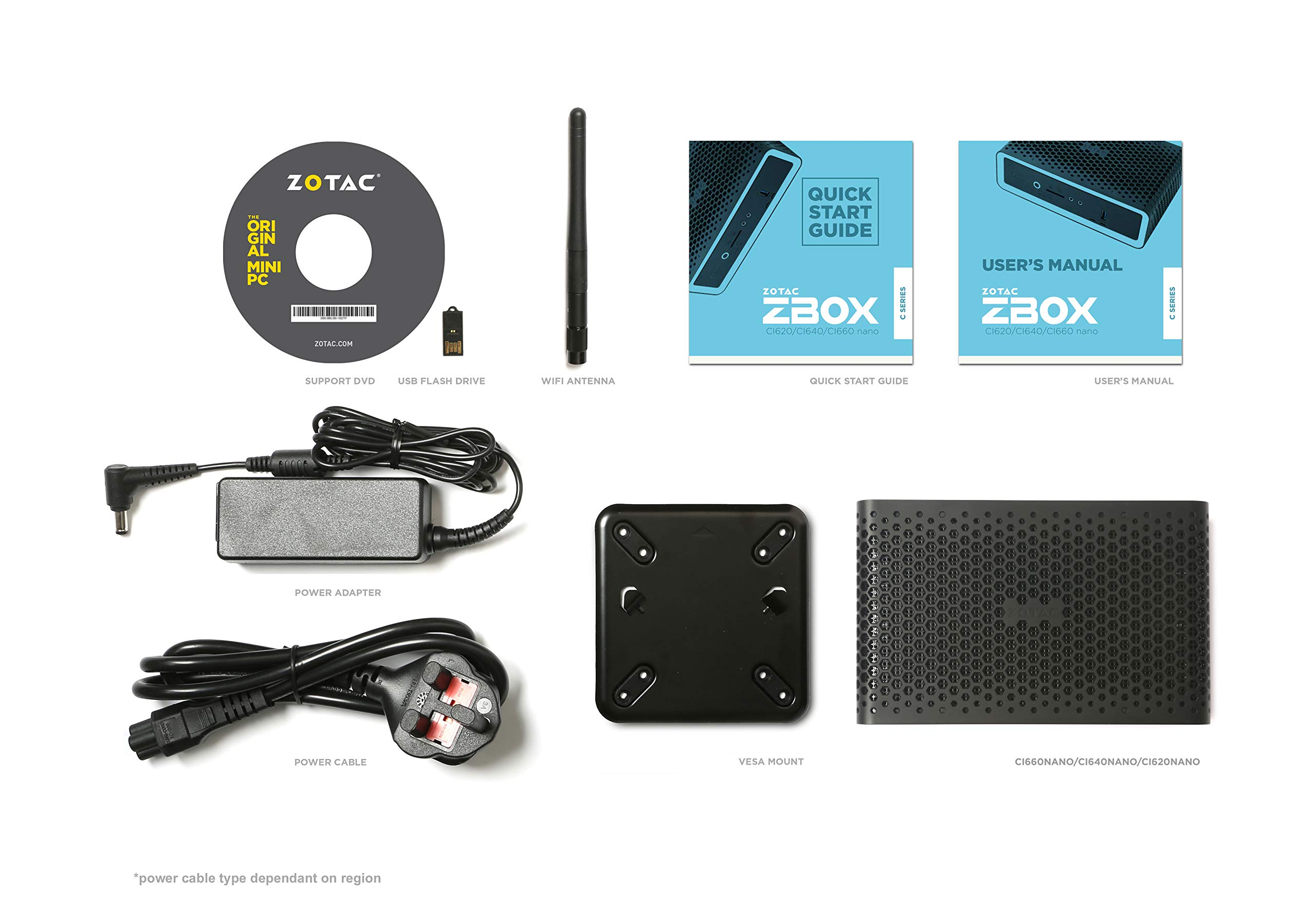 ZOTAC ZBOX CI620 Nano Plus Silent Mini PC 8th Gen Intel Core i3-8130U UHD 620 4GB DDR4/120GB SSD/No OS (ZBOX-CI620NANO-P-U) by ZOTAC (Image #4)