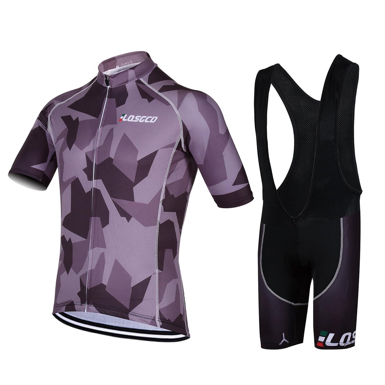 811b8ca543 Feilaxleer Ropa Ciclismo Verano para Hombre y Mujer - Un Conjunto de  Ciclismo Jersey Maillot y Culotte Pantalones Cortos Feilaxleer-outdoor