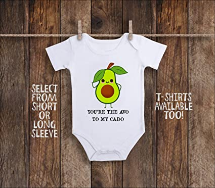 281874789 Image Unavailable. Image not available for. Color: Avocado Onesie Avocado  Baby Shirt ...