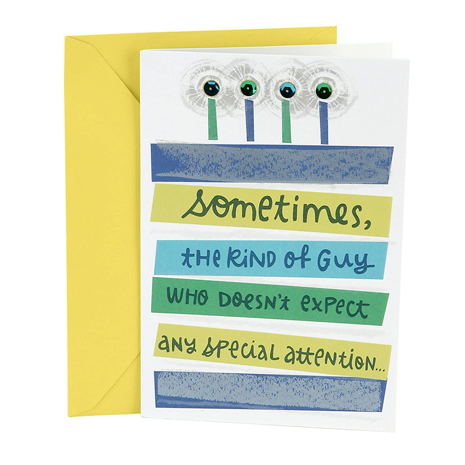 Amazon Hallmark Birthday Card For Him Special Attention Office Products