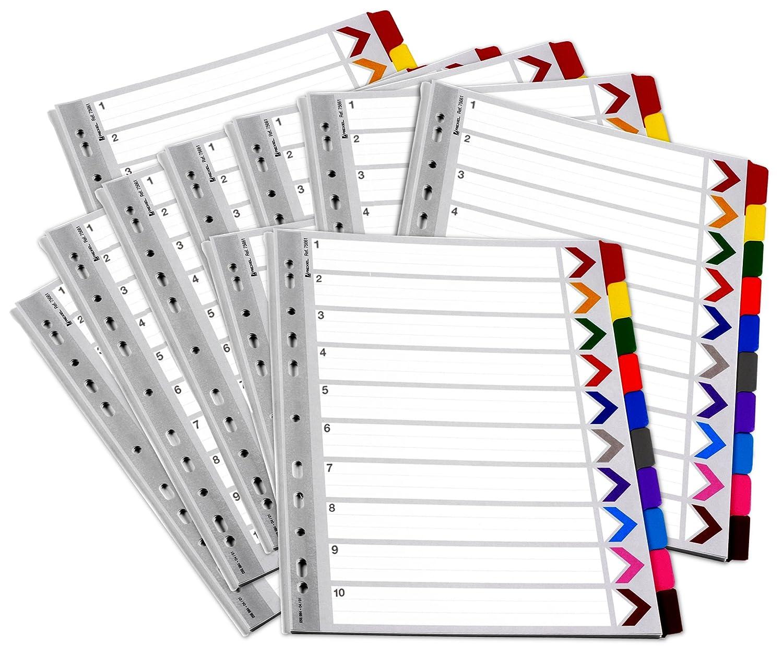 Rexel 75674 WB Mylar Index A4 1-20 Multi Acco