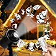 Christmas Projector Lights Outdoor LED Santa Claus Laser Lights Waterproof Snowfall Landscape Light