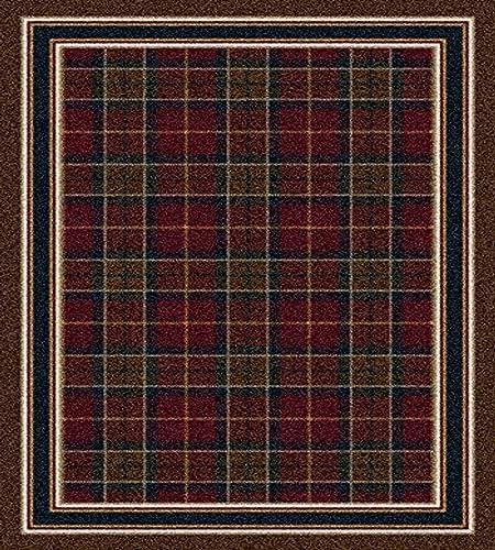 Milliken Signature Collection Magee Tartan Rectangle Area Rug, 10 9 x 13 2 , Dark Amber