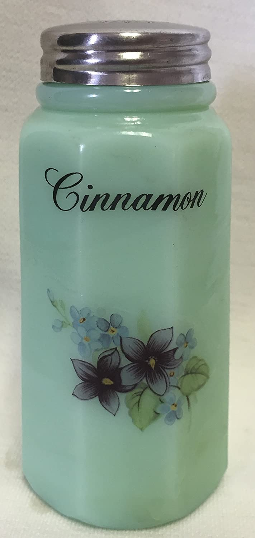 Sugar Shaker - Floral - Paneled - Mosser Glass - American Made (Cinnamon, Jade) 0931CS