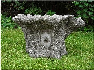 ORNATE BIRD BATH Modern Feeder Stone Cast Bespoke Handmade Ornament Statue Gift