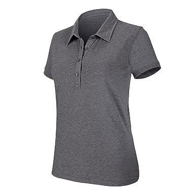 Kariban Women S Melange Short Sleeve Polo Shirt Size S Color Dark Grey  Heather 1a2ee7823f