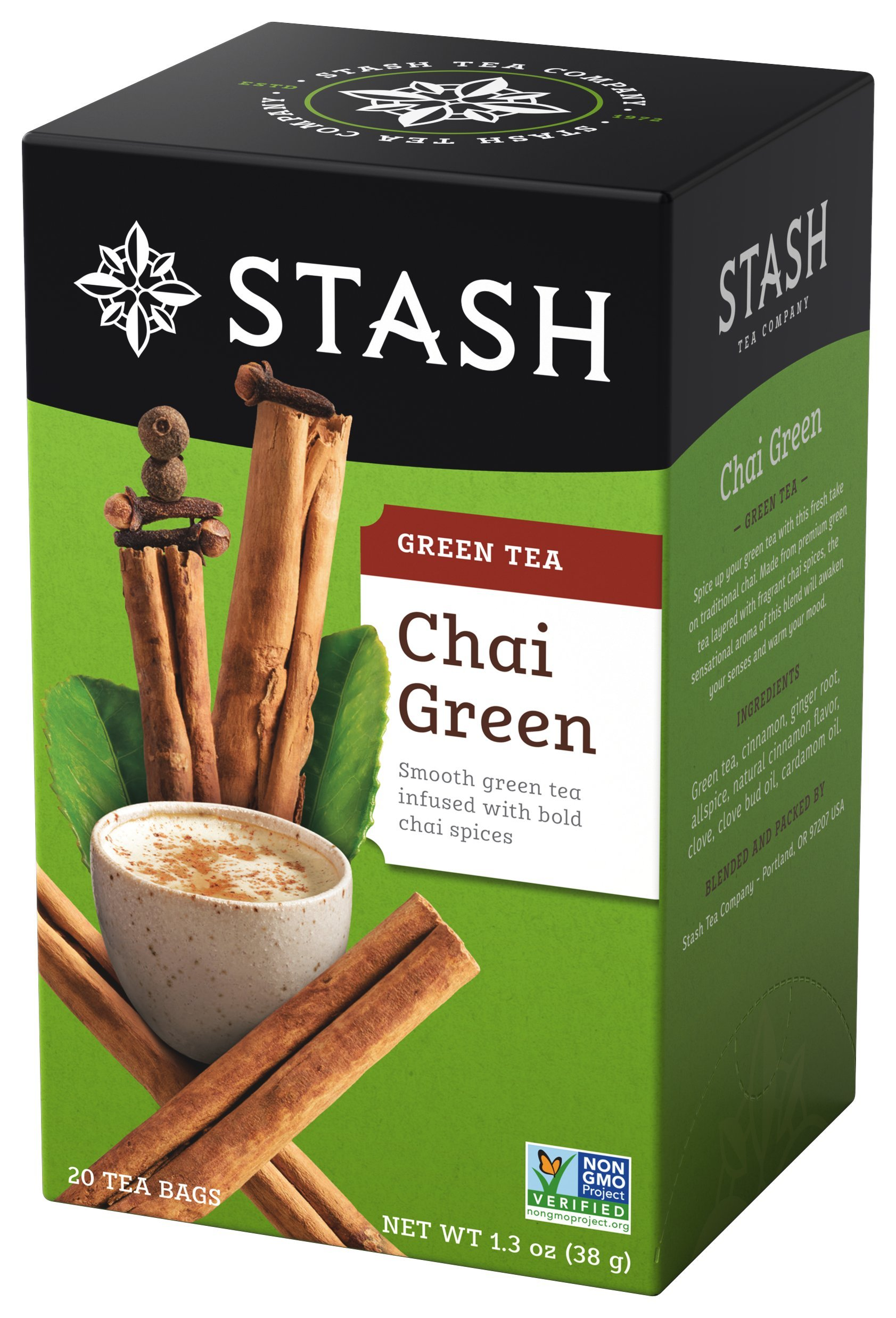 Amazon.com   Stash Tea Green Chai Tea 20 Count Tea Bags in Foil (Pack of 6)  Individual Spiced Green Tea Bags for Use in Teapots Mugs or Teacups 62fc951d26692