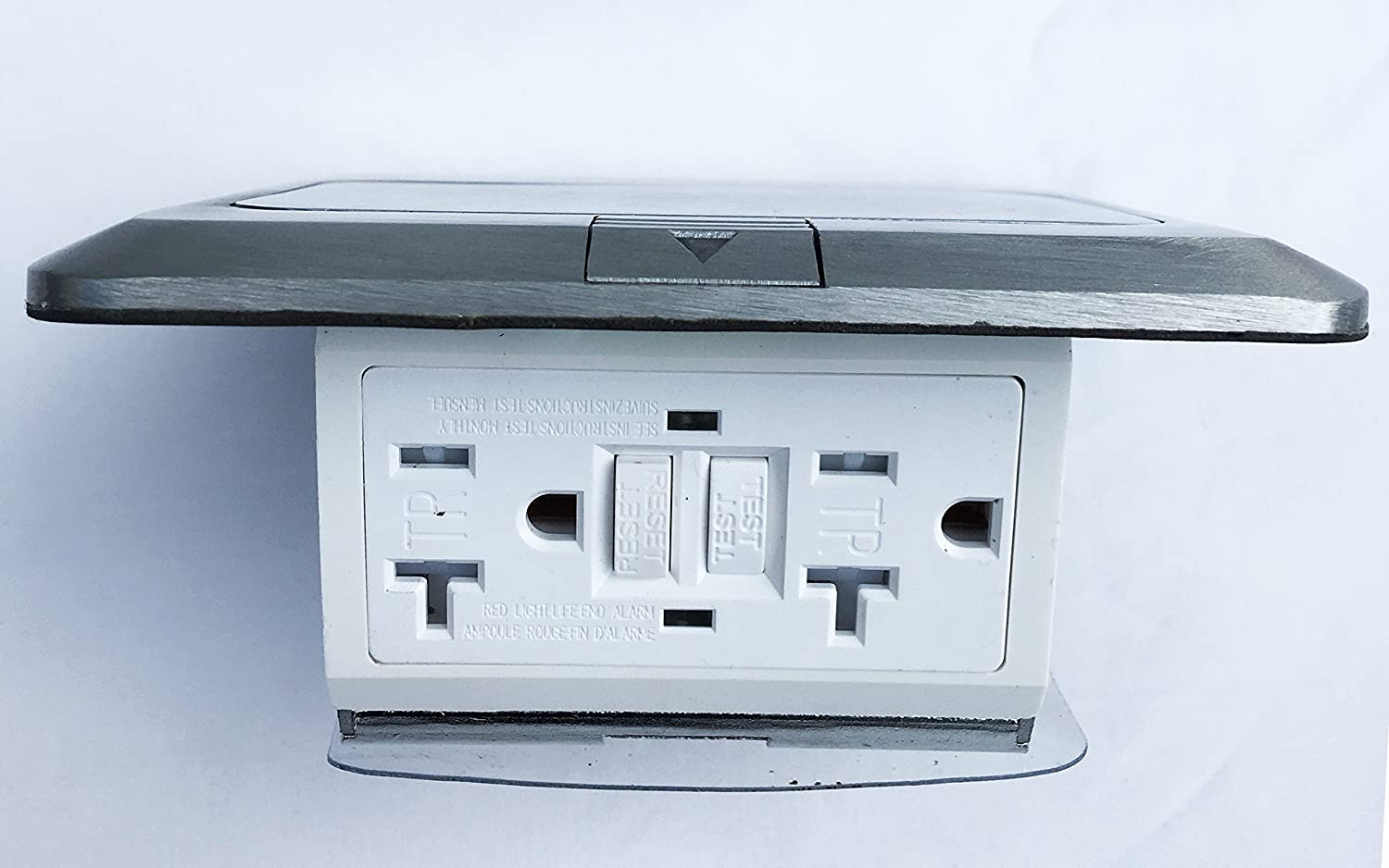 Pop UP Floor Box Countertop Box w/20A GFI Receptacle Electric Outlet ...