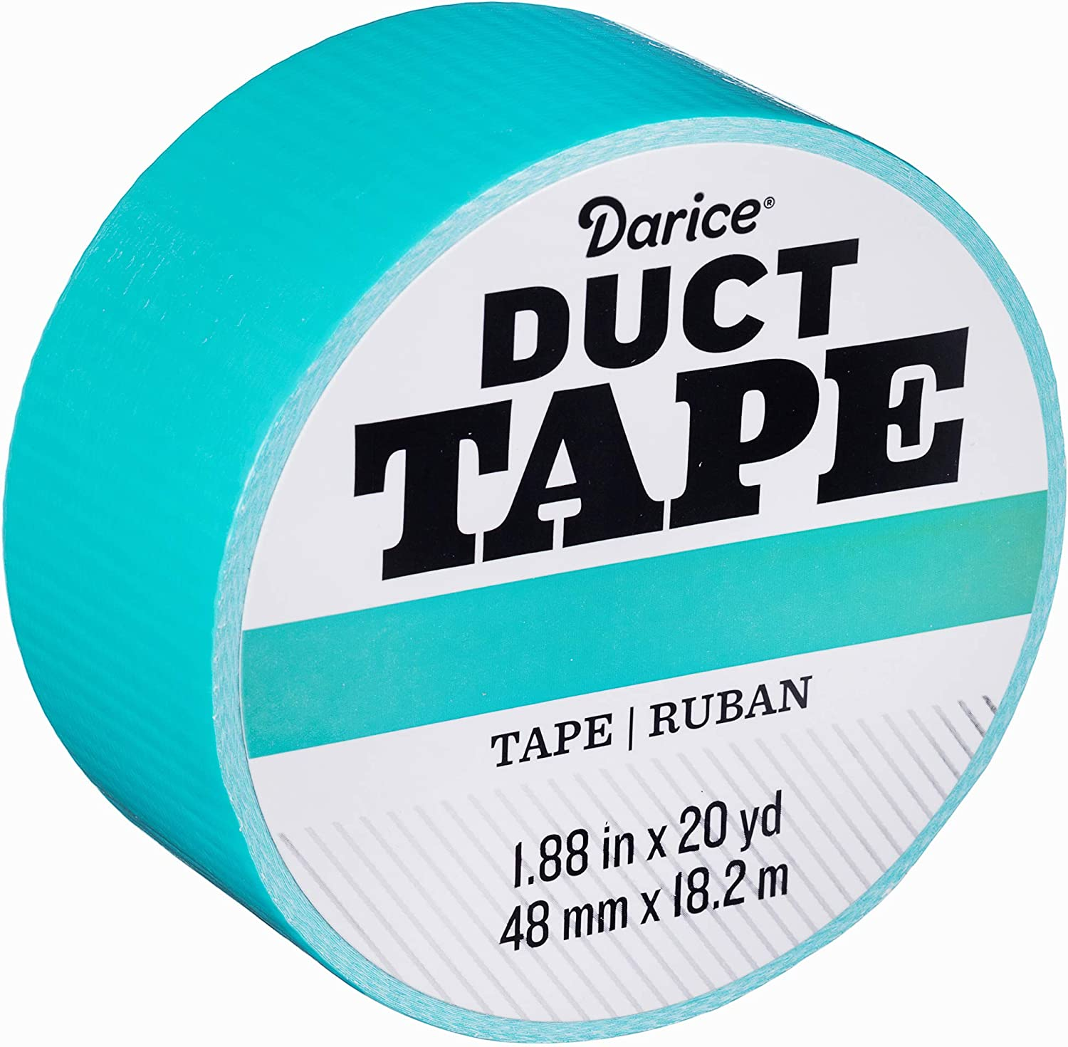 Black 1.88 Inches x 20 Yards Duck Brand 1265013 Color Duct Tape Single Roll
